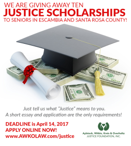 justice scholarship 2017